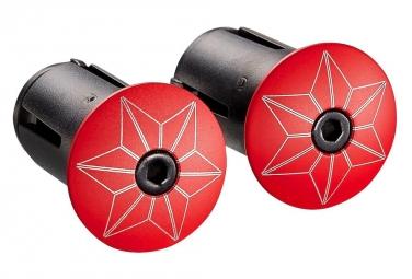 Embout de cintre Supacaz Star Plugz (powder coated) Rouge