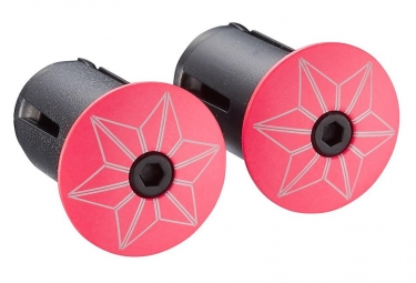 Supacaz Star Plugz (powder coated) Hot Pink