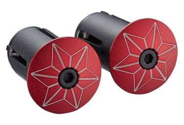 Embout de cintre Supacaz Star Plugz (anodized) Rouge