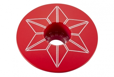 Capot jeu de direction supacaz star capz rouge powder coated