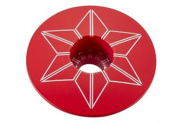 Capot jeu de direction Supacaz Star Capz Rouge (powder coated)