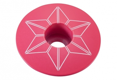 Capot jeu de direction supacaz star capz neon rose powder coated