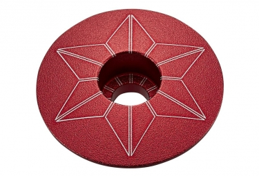 Capot jeu de direction supacaz star capz rouge anodized