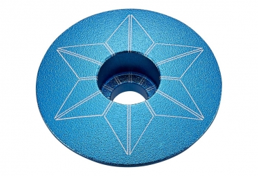 Capot jeu de direction supacaz star capz aqua anodized