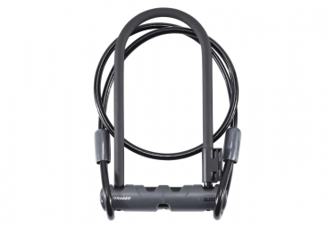 Antivol U avec Câble Bontrager Elite 12mm x 23cm Noir
