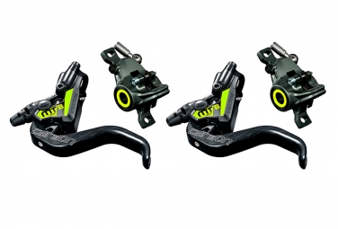 Pair of Disc Brake Magura MT8 SL Black/Yellow 2019