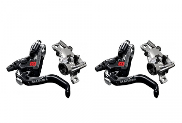 Pair of Disc Brake Magura MT8 Pro Black/Chrome 2019