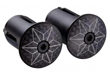 Embout de cintre Supacaz Star Plugz (anodized) Carbon