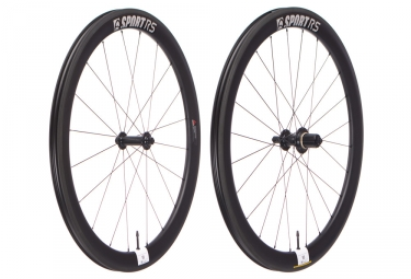 Paire de roues route asterion sport 55 pneu tubeless ready 9x100 mm 9x130 mm shimano