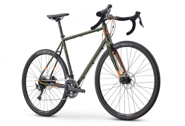 Fuji Jari Steel 2.3 Gravel Bike Shimano Sora 9S 2019 Caqui Naranja
