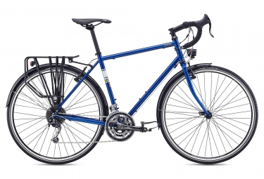 Fuji Touring Travel Bike Shimano Alivio Deore 9S 2019 Blu scuro
