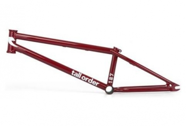 Tall Order BMX Freestyle Frame 187 Red Gloss