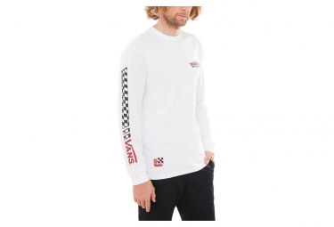 T-Shirt Manches Longues Vans Crossed Sticks Blanc