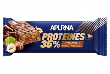 APURNA Barre Crunchy Hyperprotéinée Chocolat-Noisettes 45g
