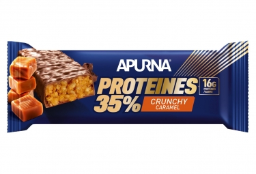 Barre Hyperprotéinée Apurna Crunchy Caramel 45g
