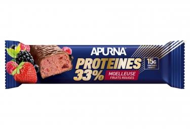 APURNA Barre Hyperprotéinée Chocolat-Red Fruits 45g