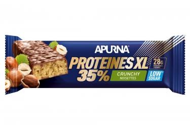 APURNA Barre Hyperprotéinée Crunchy XL Noisette 80g