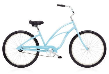 Beach cruiser femme electra cruiser 1 ladies single speed 26 bleu clair 2018