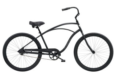 Electra Cruiser 1 Mens' Beach Cruiser Single Speed 26 Matte Black 2019