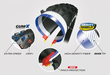 Pneu VTT Michelin Force Enduro Competition Line 29 Tubeless Ready Souple Gravity Shield Gum-X E-Bike