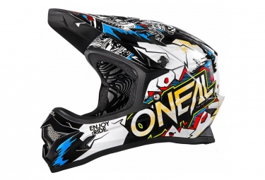 Image of Casque integral o neal backflip rl2 villain blanc noir l 59 60 cm