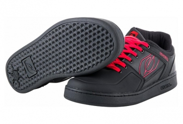 O'Neal Flat Pedal Shoe Pinned Pro Red/Grey