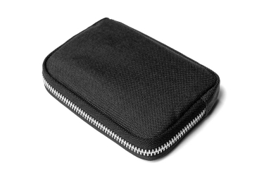 Portefeuille Chrome Zip Noir