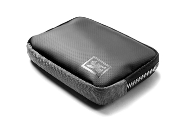 Chrome Zip Wallet Grey Black