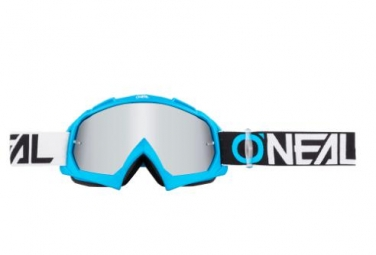 Masque O'neal B-10 Pixel TwoFace Bleu / Mirror Silver