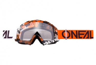 Masque O'Neal B-10 Pixel Orange / Blanc