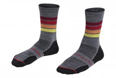 Bontrager Merinos Race WOOL Socks 5'' Grey/Red