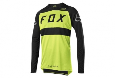 Fox Flexair Long Sleeves Jersey Yellow Black