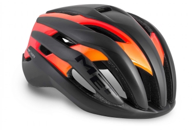 Casque Met Trenta Noir Matt Orange Brillant