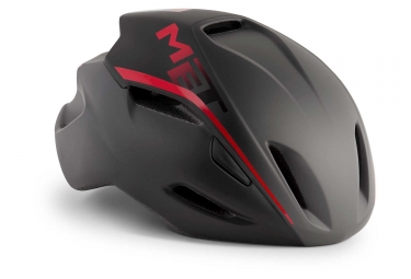 Met Manta Aero Helmet Shaded Black Red Matt