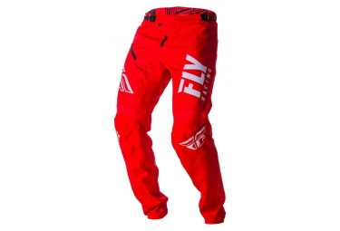 Pantalon enfant fly racing kinetic shield rouge blanc 26
