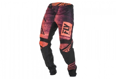 Pantalon enfant fly racing kinetic noiz rouge noir 26