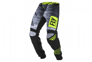 Pantalon enfant fly racing kinetic noiz noir jaune fluo 24