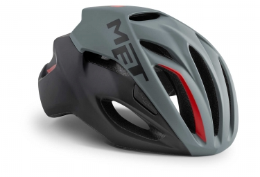 Met Rivale Helmet Grey Black Red Matt