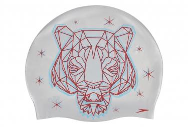 Bonnet de Bain Réversible Speedo Flipturns Chrome/Rouge lave/Bleu