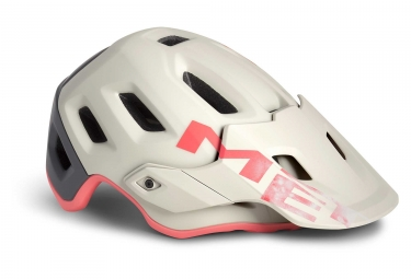 Casque all mountain met roam blanc casse gris rose mat m 56 58 cm