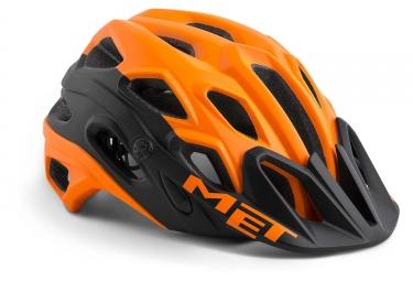 Casque Met Lupo Orange Noir Mat 2021