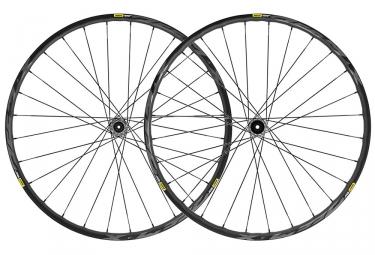 Paire de roues 2019 mavic deemax elite 27 5 15x100mm 12x142mm noir shimano sram