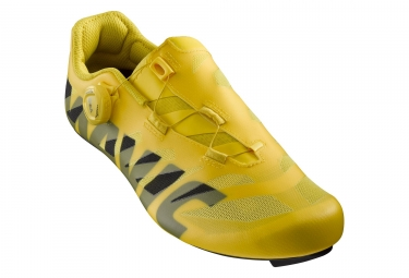 Pair of MAVIC Cosmic SL Ultimate Road Shoes Yellow Black