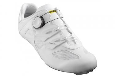 Paire de chaussures route mavic cosmic elite blanc noir 40