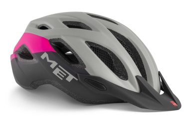 Casque Met Crossover Gris Rose Mat