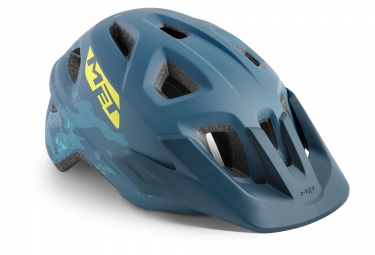 Met Eldar Kids Casco Gasolina Azul Camo Mate Unique  52 57 Cm