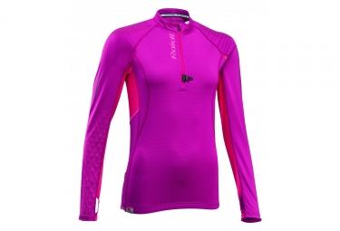 Raidlight Performer XP Long Sleeves Jersey Women Pink Bordeaux