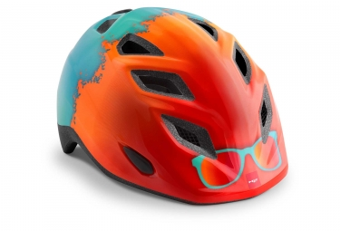 Casque Enfant Met Genio Orange Surf Brillant