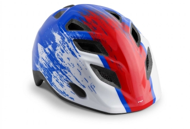 Met Genio Kids Casco Blue Red Hero Glossy