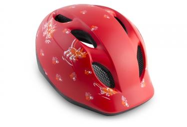 Met casque buddy rouge animaux mat 46 53